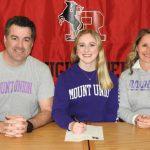Courtney Kenworthy Signing Photos, Mount Union, 2020