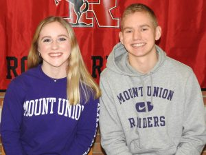 Courtney Kenworthy Signing Photos, Mount Union, 2020