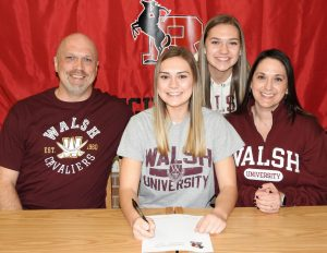 Carley Wolfgang Signing Photos – Walsh University, 2020