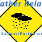 SATURDAY, FEB. 21 – WEATHER CANCELLATIONS & POSTPONEMENTS
