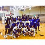JV Cheerleaders and JV Boys Basketball