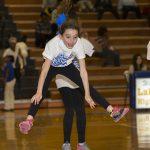 Cheerleaders, Elementary Students Entertain