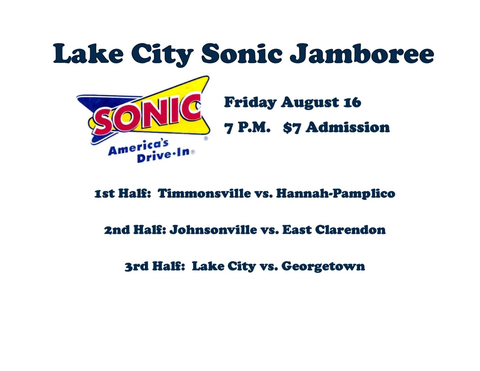 Lake City Sonic Jamboree Schedule