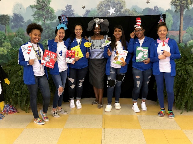 Lady Panthers Support Literacy at LCECC