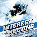Men's Lacrosse Interest Meeting Friday, August 19,2016