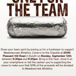 Eat at Chipotle on September 12, 2016 to Support Meadowcreek Athletics