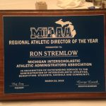 Ron Stremlow Recognized as MIAAA Region 2 AD of the Year