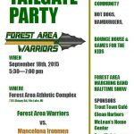 TAILGATE PARTY FRIDAY!!