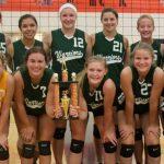 Varsity Volleyball Team takes the Manton Invitational