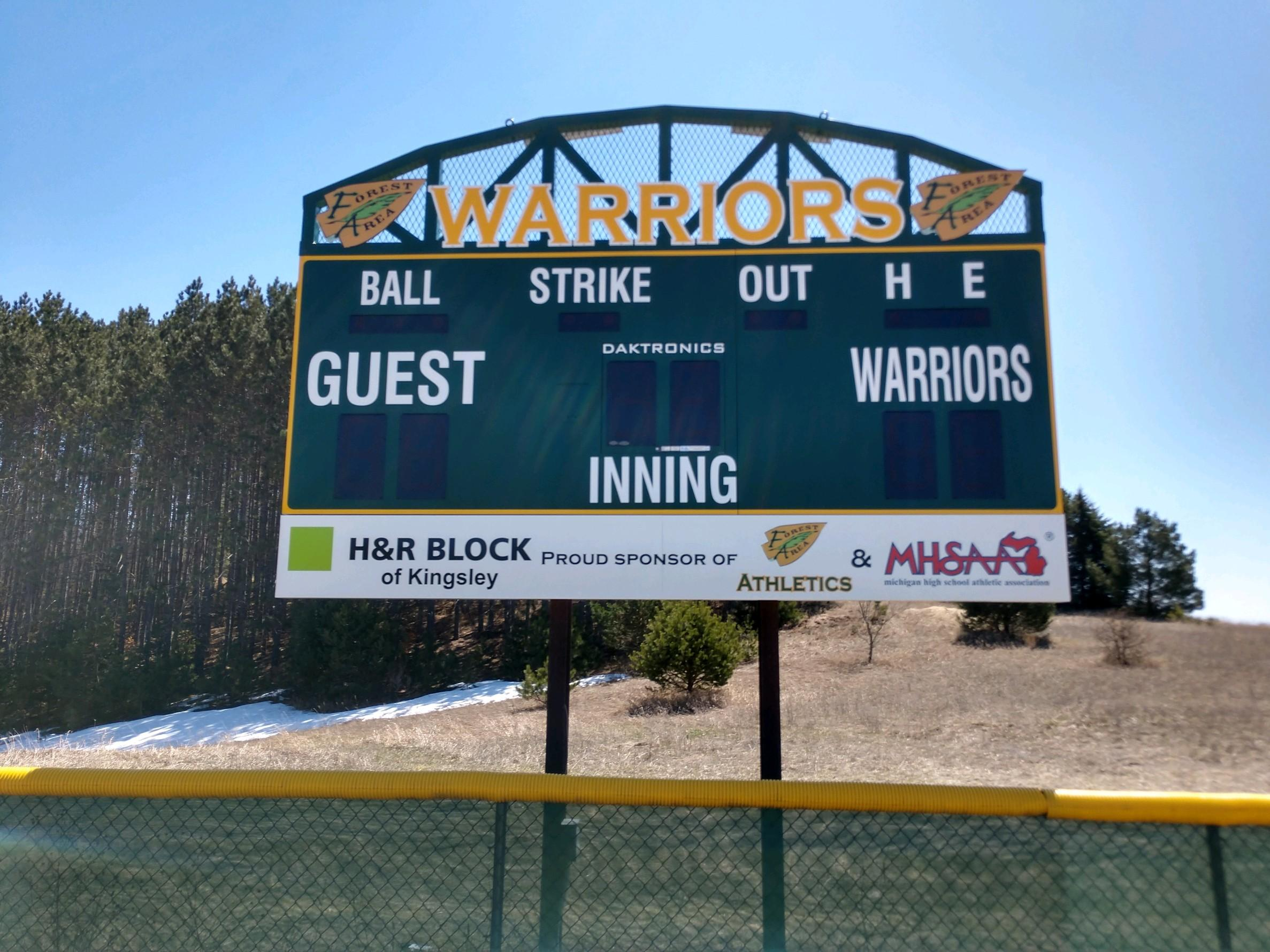 New Softball Scoreboard