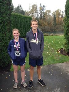 Brock and Elena on Their Way to the Cross Country State Meet
