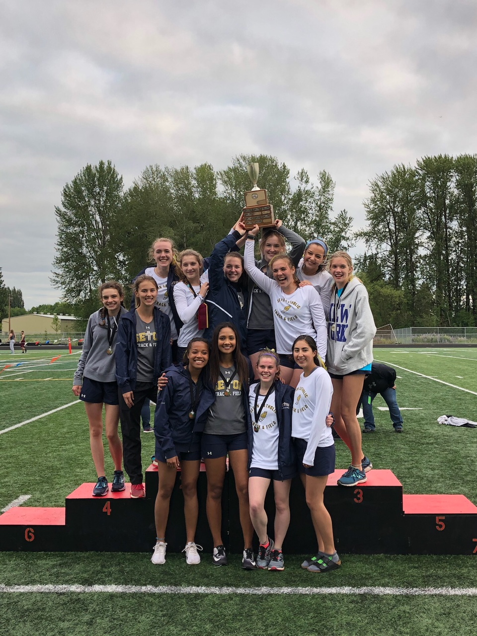 Girls Track District 4 Champions! State Academic Champs!