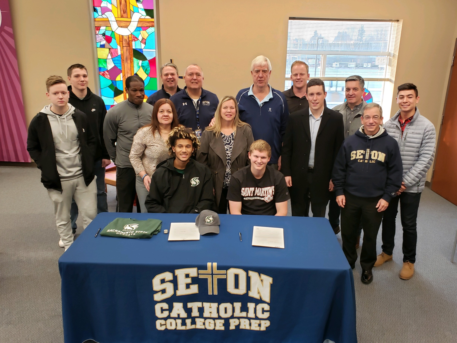 Seton's Sean Ball and Isaiah Parker Sign Letters Of Intent