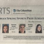 Seton's Christian Martin Chosen as Columbian Spring Sports Athlete of the Week!