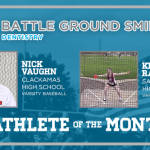 And the Battle Ground Dentistry Athlete of the Month is….