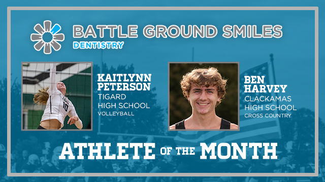 And the Battle Ground Dentistry October Athlete of the Month is….