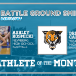 And the Battle Ground Dentistry December Athlete of the Month is….