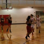 The 7th Grade Girls Basketball Team Split A Pair Of Games At Home
