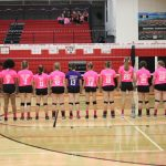 Varsity Volleyball fights to win 5 set thriller
