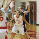 8th Grade Girls Basketball team finishes season with 2 more wins