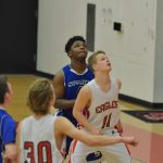 JV boys basketball battle at The Nest