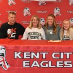 Lauren Freeland signs letter of intent to run for Michigan State University