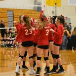 8th grade volleyball showing big improvements