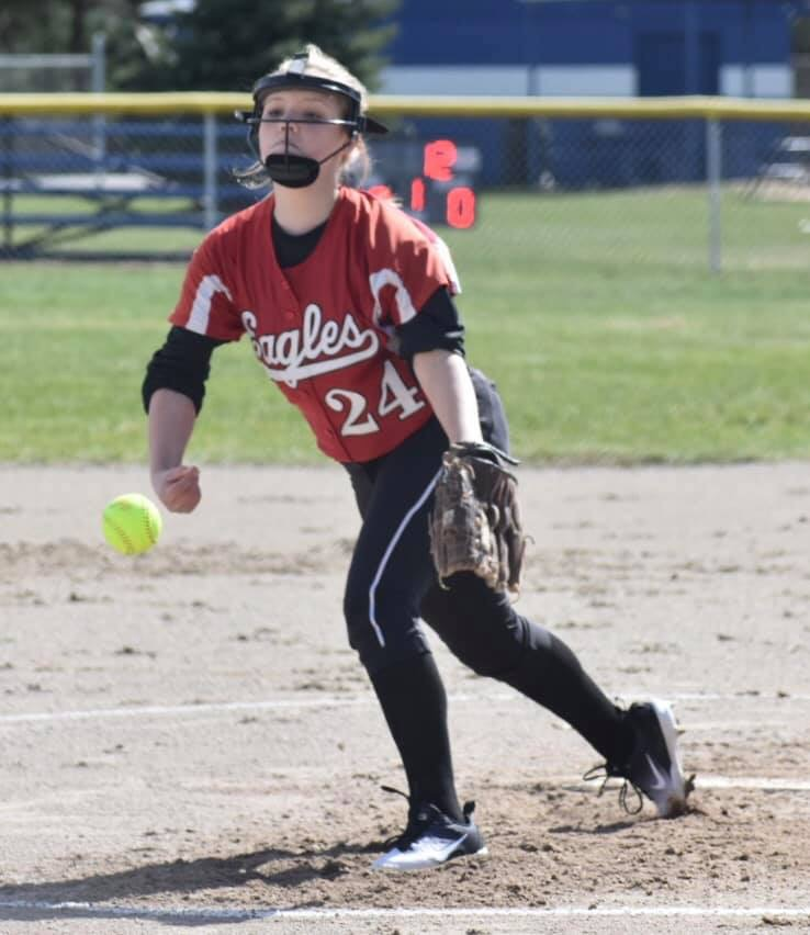 Middle School Softball rallies together for a 9-7 win over Newaygo