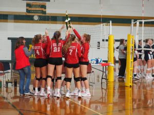 Varsity Volleyball takes 1st at Muskegon Catholic Central Invitational! 9/28/19