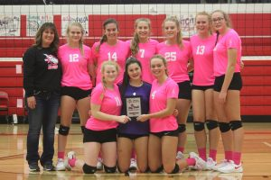 Varsity Volleyball Dig Pink Tournament 10-12-19