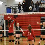 Kent City 8th Grade Volleyball Splits at Hesperia