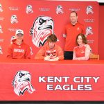 Nick Flegel signs letter of intent to attend Cleary University and run for the Cougars