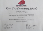 Kent City Awarded Safe Sports School Award — 1st Team from the National Athletic Trainers' Association