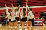 Varsity Volleyball sweeps the Indians