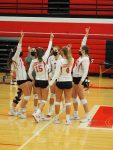 Strong serving night leads to a sweep of the Red Devils