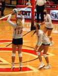 Volleyball splits on Monday night