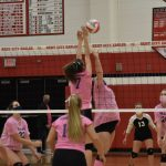 JV volleyball wins on Dig Pink night