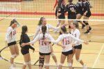 Varsity Volleyball sweeps Quad on Halloween