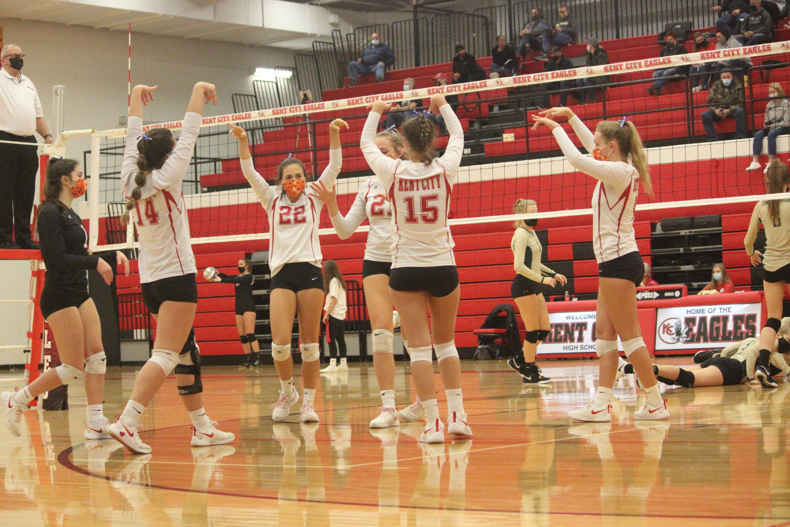 Varsity Volleyball sweeps Quad on Halloween