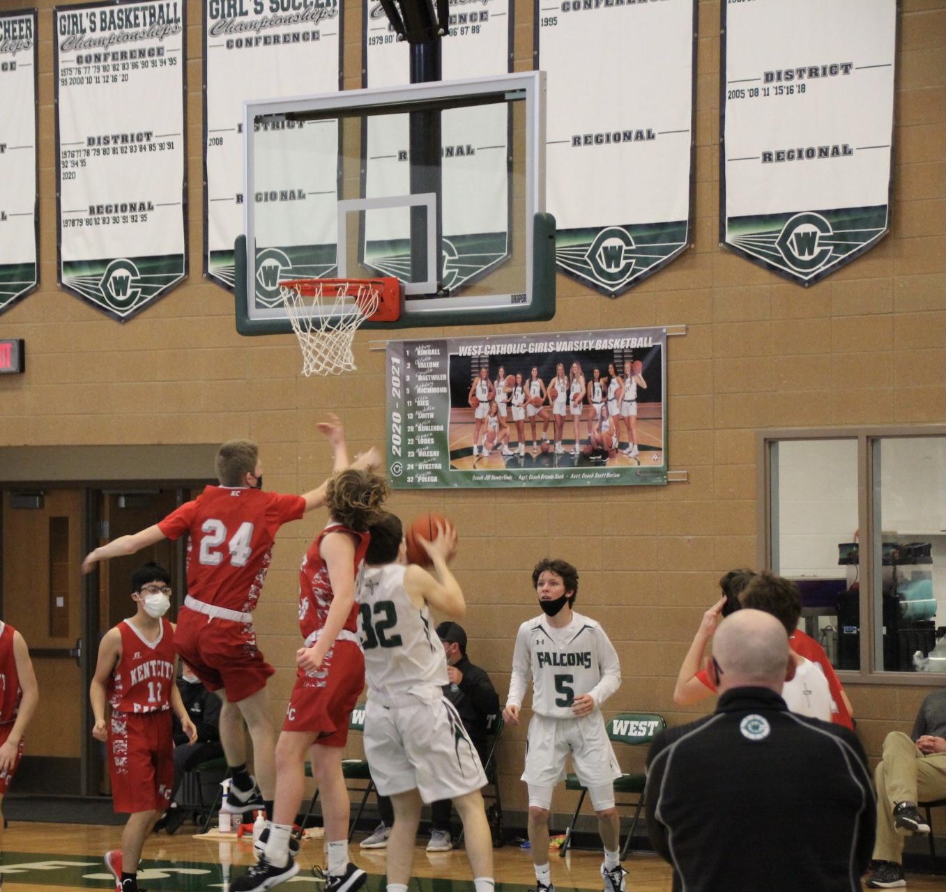 J.V. Boys Basketball vs. West Catholic 2-13-21