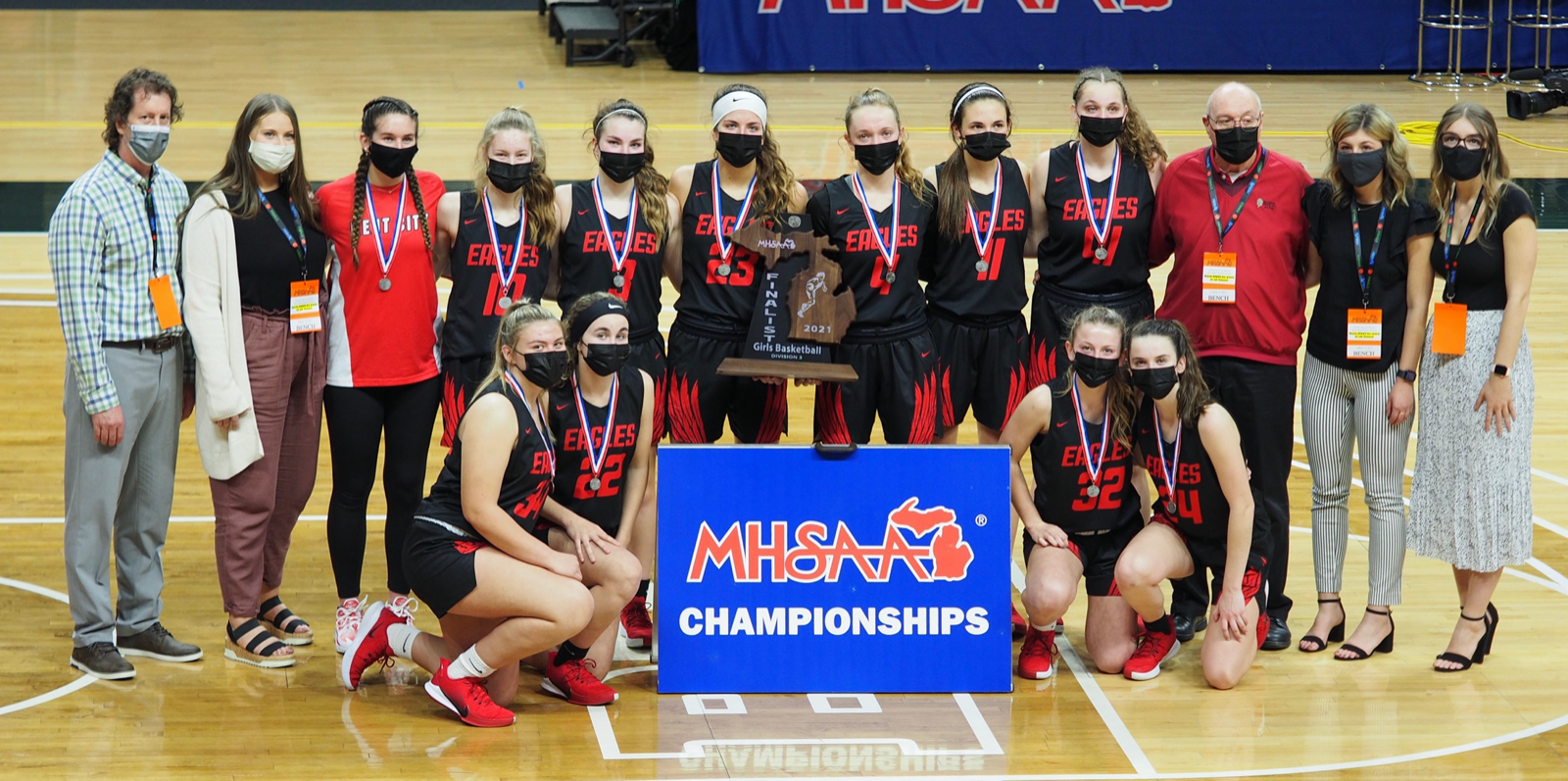 Varsity girls fall, 52-50, to Grass Lake in state championship game