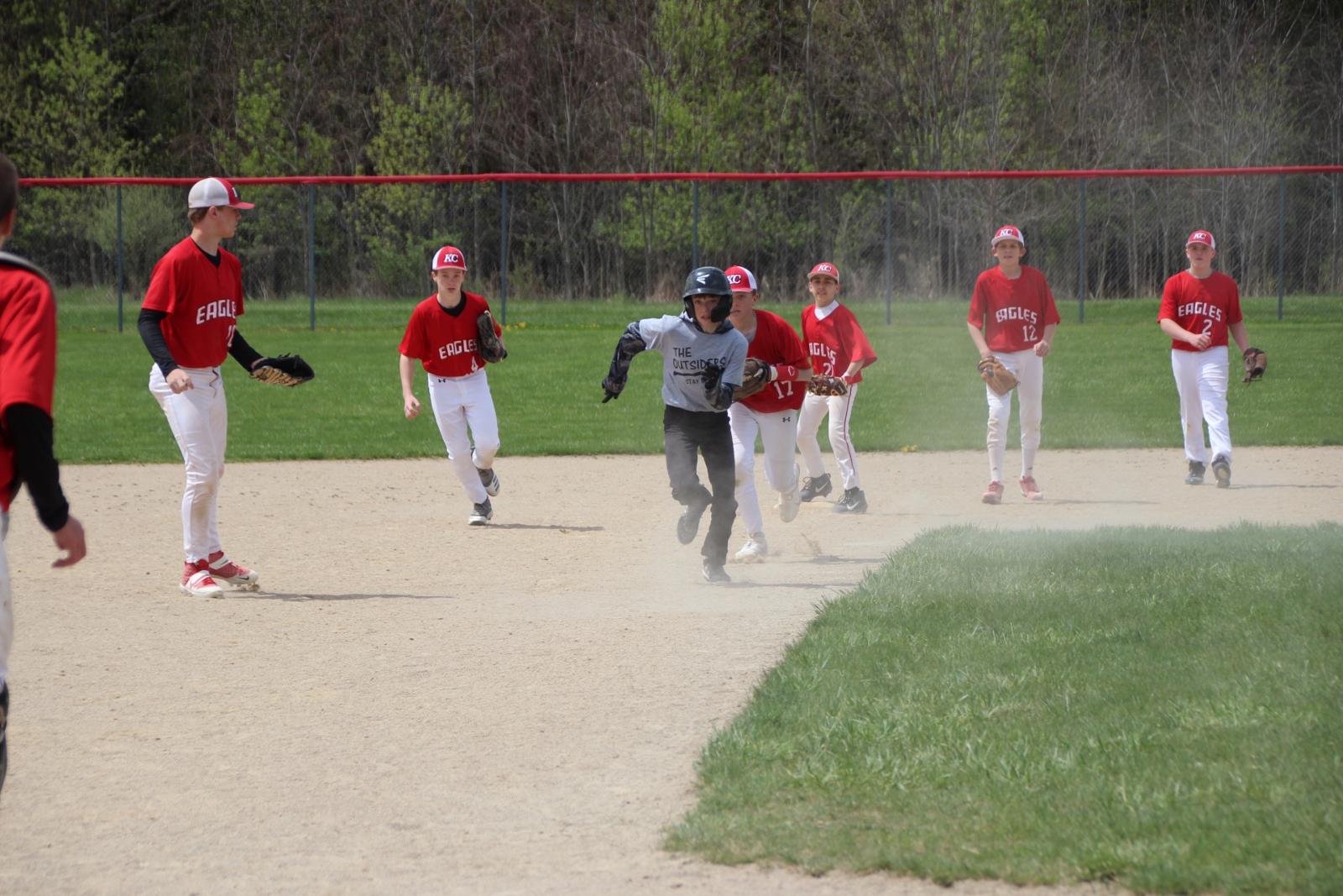 MS Boys Baseball vs. Newaygo 5-1-21