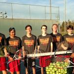 Whittier Christian High School Boys Varsity Tennis ties Don Bosco Technical High School 9-9