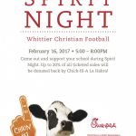 Football Fundraiser Night at Chick-fil-A Thursday!