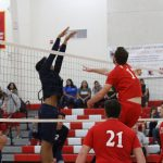 Whittier Christian High School Boys Varsity Volleyball beat California 3-1