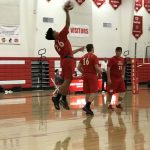 Whittier Christian High School Boys Varsity Volleyball beat Savanna High School 3-0