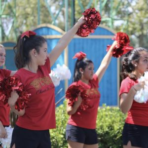Cheer and Song at Knott's Berry Farm Camp to start the year!