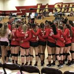 Whittier Christian High School Girls Varsity Volleyball beat La Serna High School 3-2