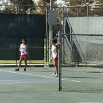 Girls Tennis battles with Heritage Christian