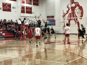 NEW PHOTOS: Boys Varsity Volleyball defeats Heritage Christian 3-2